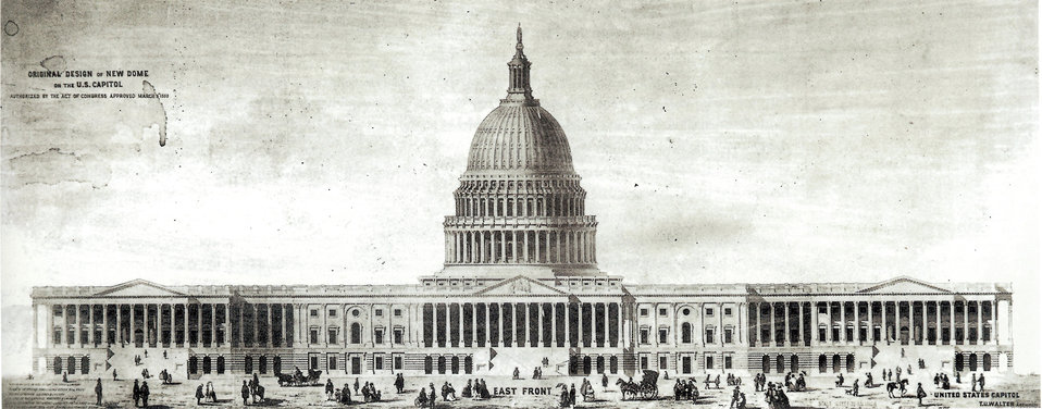 Thomas U. Walter's original design of the Capitol's cast-iron Dome