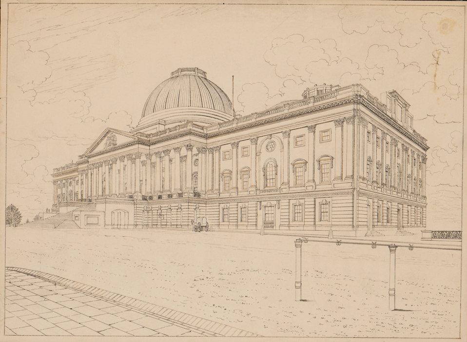 The U.S. Capitol - Circa 1830