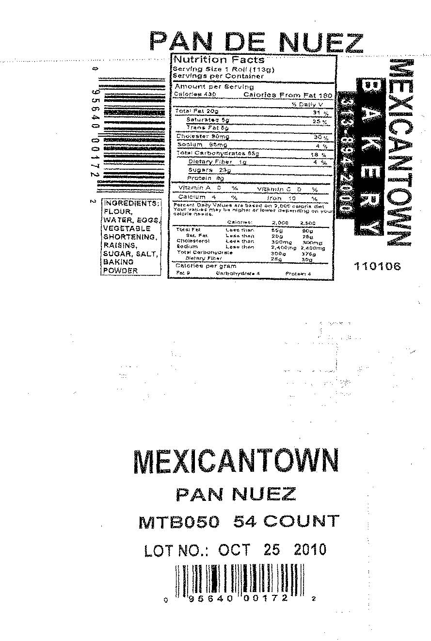 RECALLED - Mexicantown Pan De Nuez