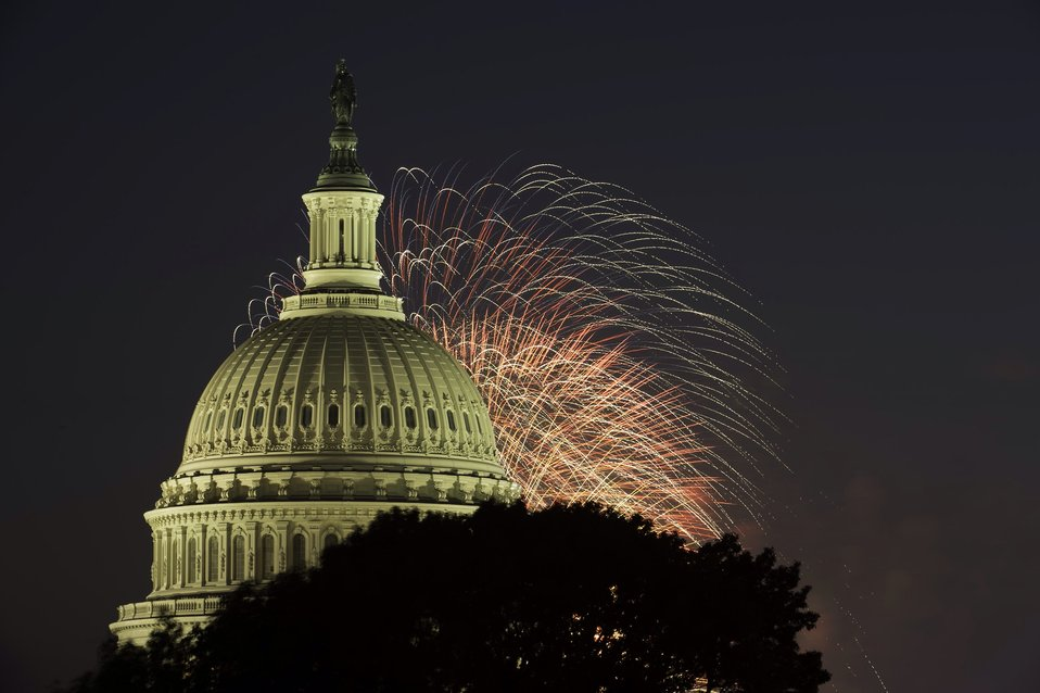 Fireworks over the Capitol July 4, 2013