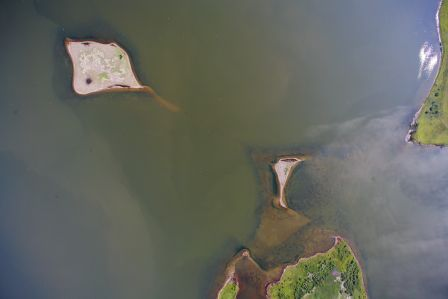 Aerial view of smaller nesting islands