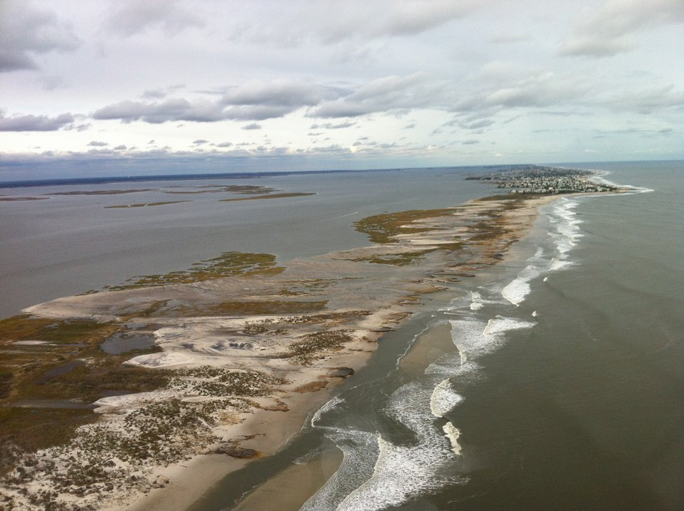 Aerial photo of Holgate unit at Edwin B. Forsythe National Wildlife Refuge (NJ)