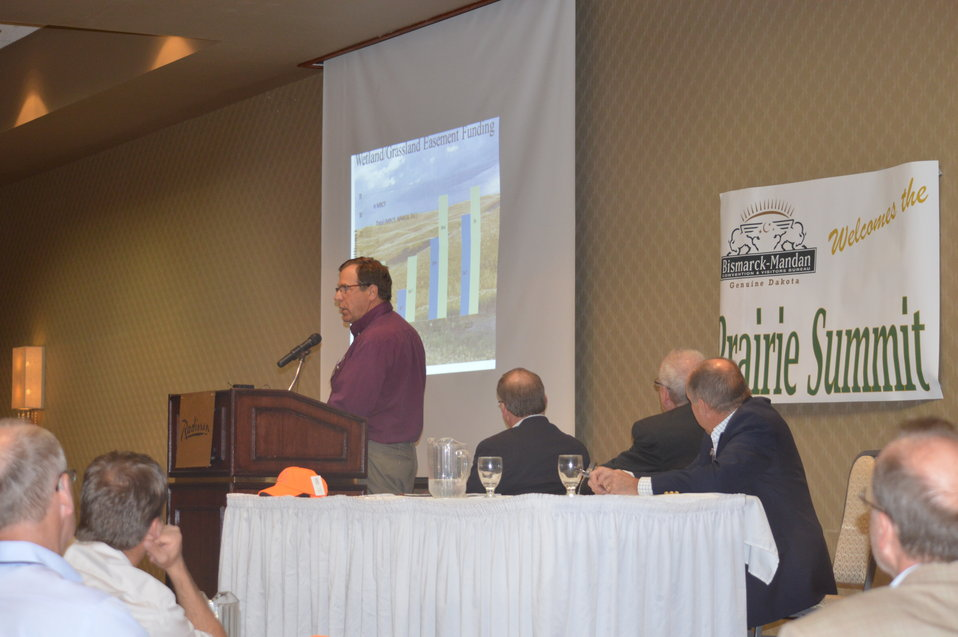 Lloyd Jones speaking at the Prairie Summit