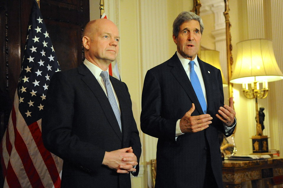 Secretary Kerry and Foreign Secretary Hague Speak to Reporters in London