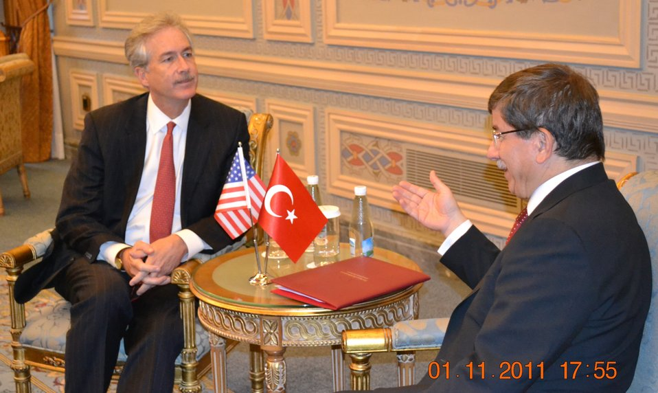 Deputy Secretary Burns Meets With Turkish Foreign Affairs Minister Davutoglu