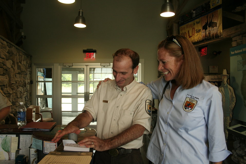 Refuge Manager Ken Sturm and Acting Regional Director Wendi Weber