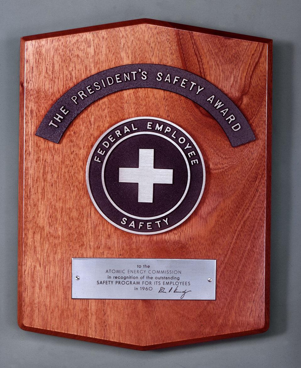 President's Saftey Award Oak Ridge