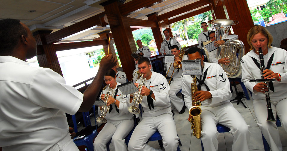 The U.S. Pacific Fleet Band Plays