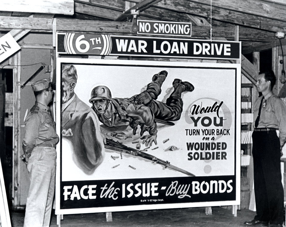 Sign Billboard War Bonds Oak Ridge