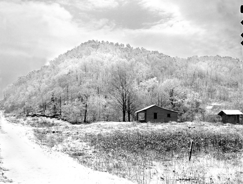 Snow Scene Oak Ridge 1947