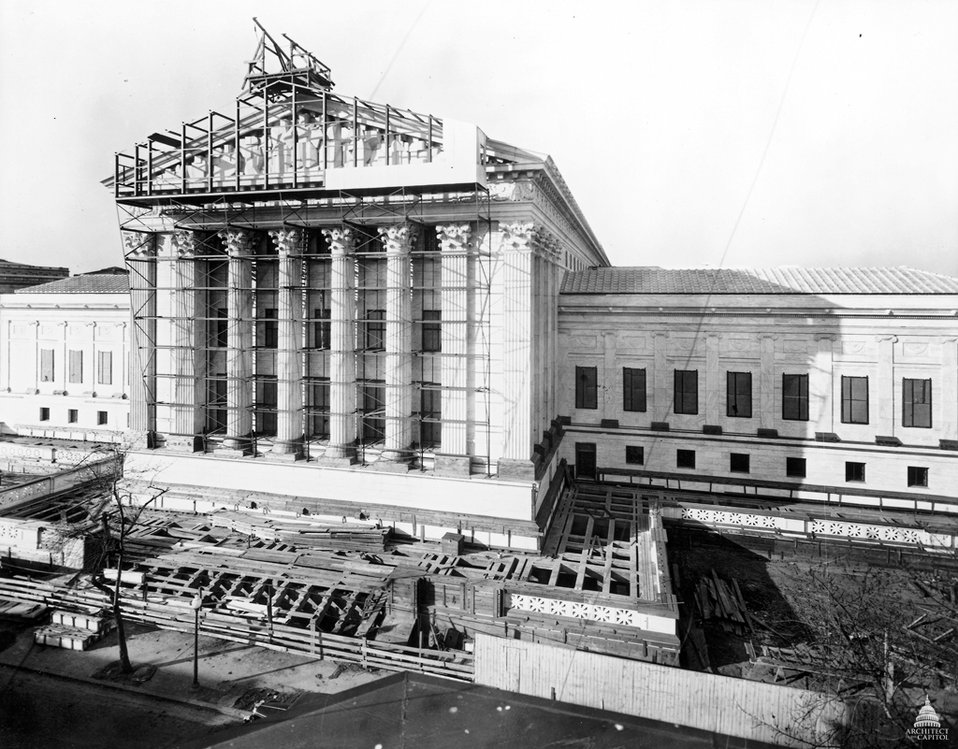 Construction of the U.S. Supreme Court Building