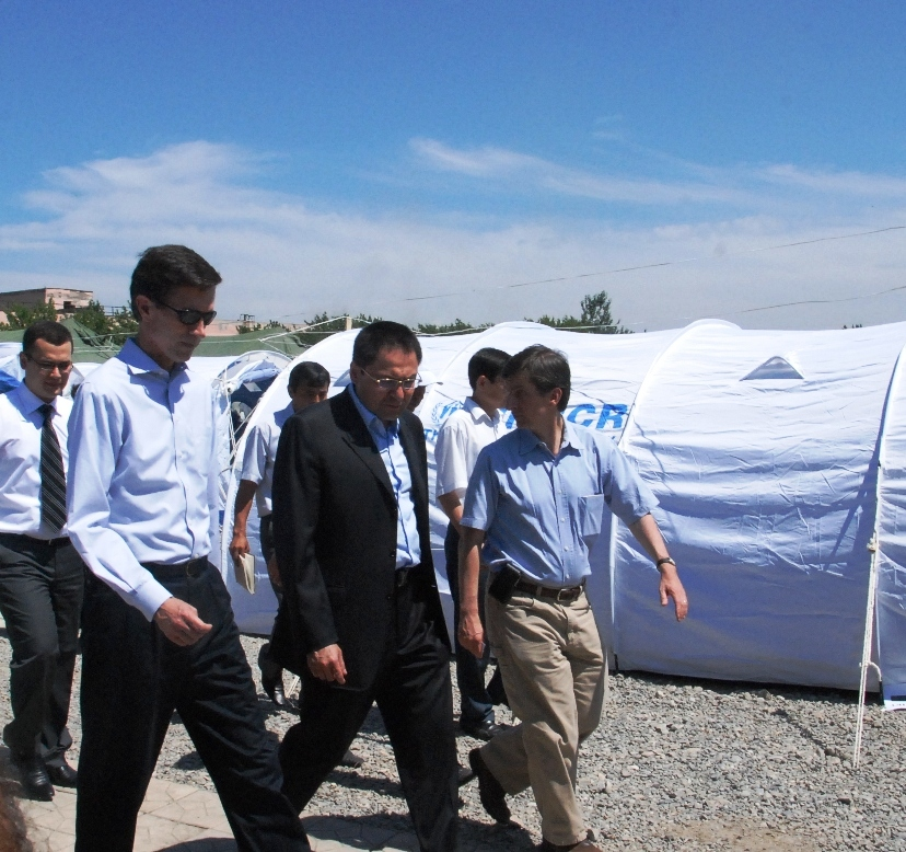 Assistant Secretary Blake Visits Refugee Camp in Uzbekistan