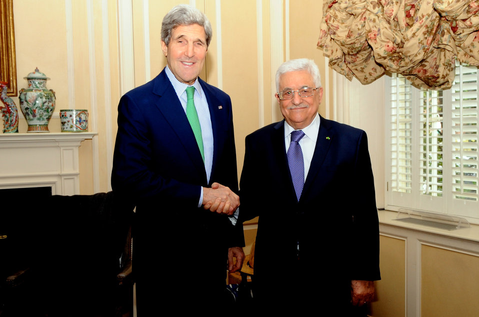 Secretary Kerry Meets With Palestinian Authority President Mahmoud Abbas