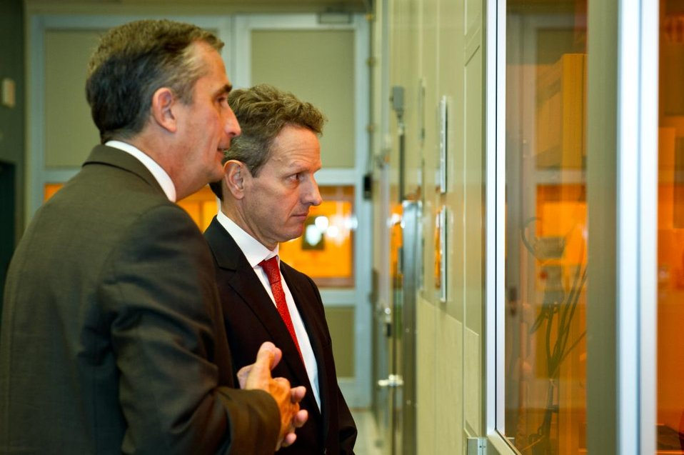 Treasury Secretary Geithner Tours Intel Facilities in Arizona