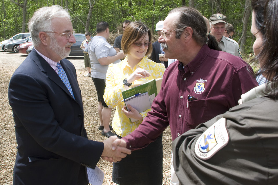 U.S. Congressman Tim Bishop and Northeast Region Refuge Chief Tony Léger