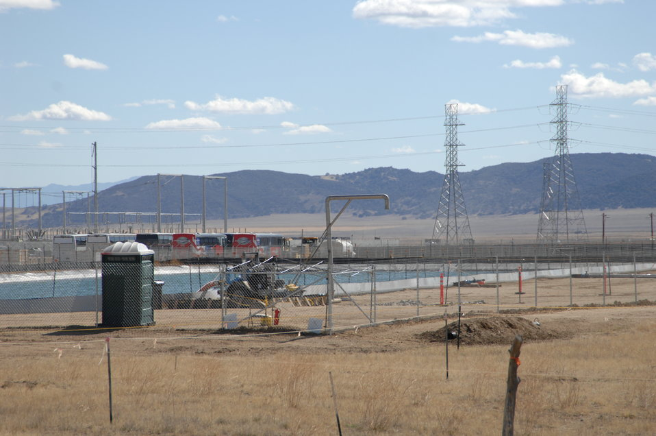 Evaporation Pond at Topaz Solar