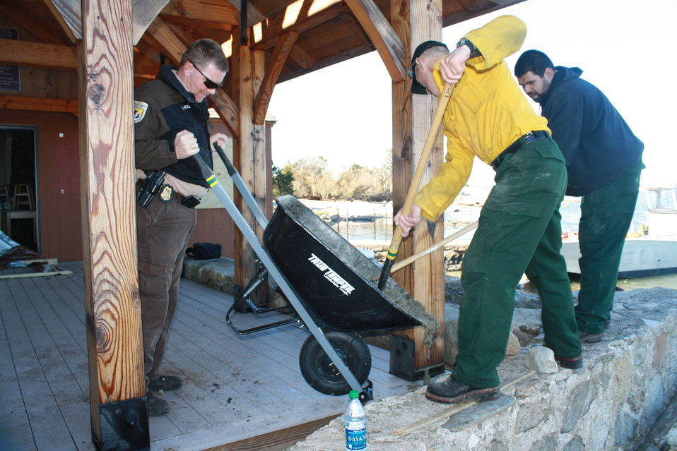 Beginning repairs at Stewart B. McKinney National Wildlife Refuge (CT)