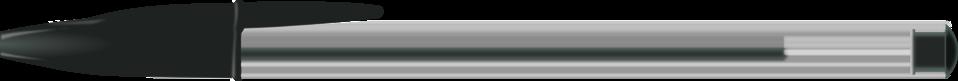 black BIC pen