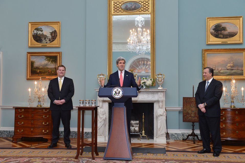 Secretary Kerry Speaks at the North American Trilateral Ministerial