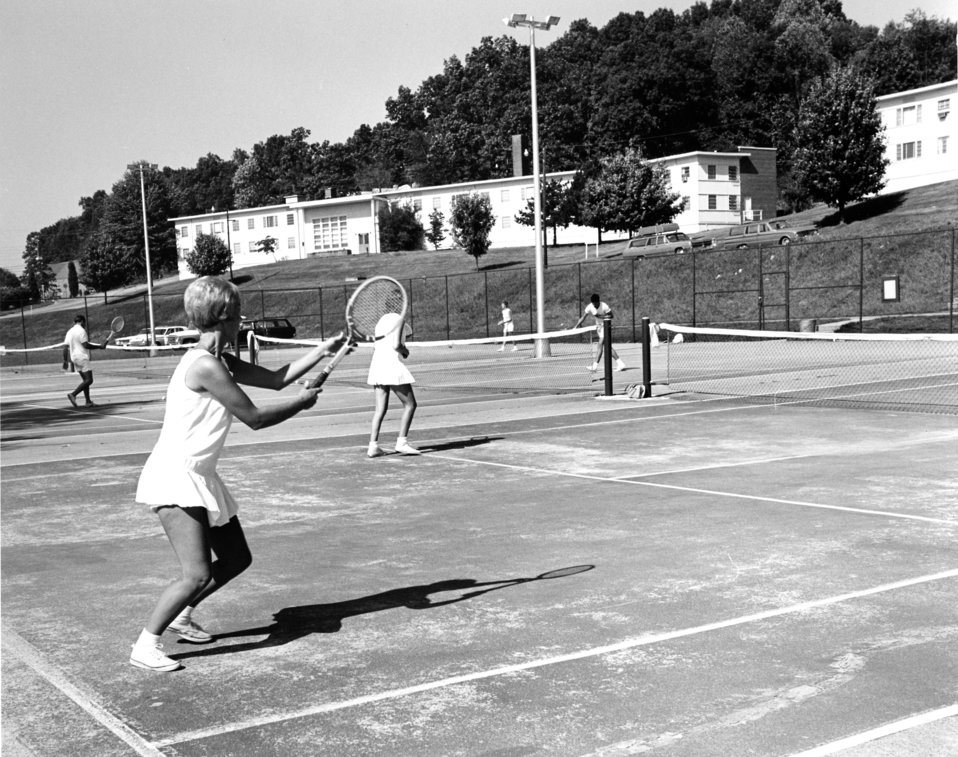 Playing Tennis Oak Ridge 1968