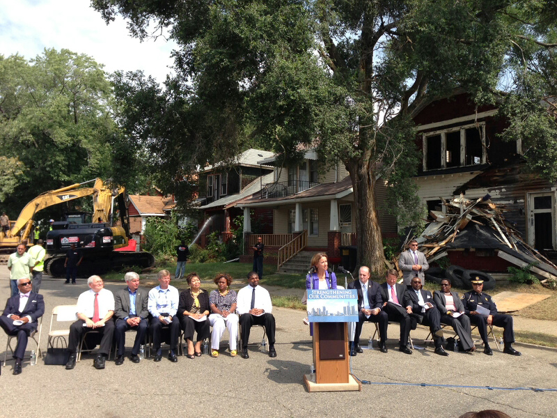 Blight Elimination Program kick-off event in Detroit