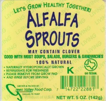 RECALLED - Alfalfa Sprouts