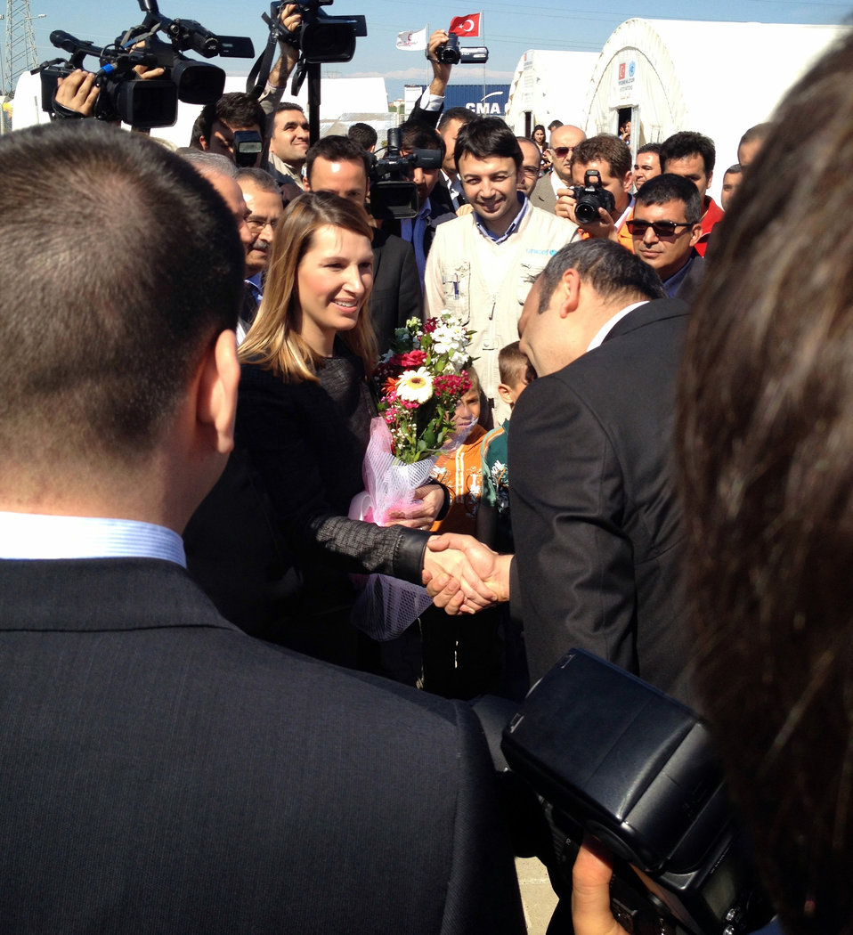 Deputy Secretary Higginbottom Arrives at the Syrian Refugee Camp in Adana