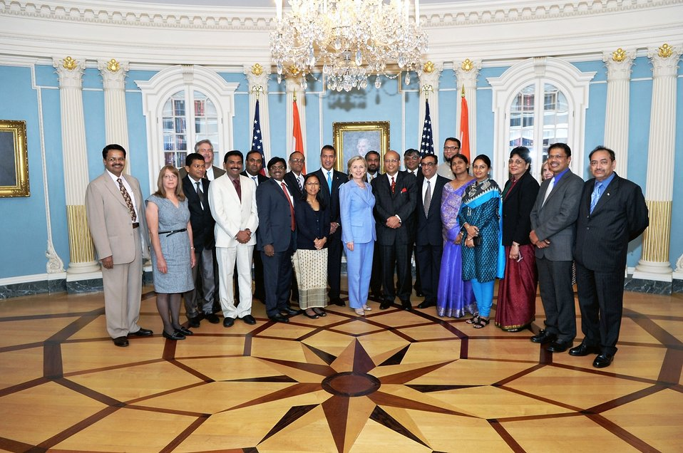 Secretary Clinton With Indian Parliamentarians