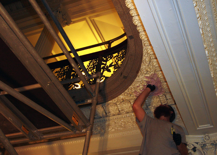 Historic Restoration of the Treasury Stairwells