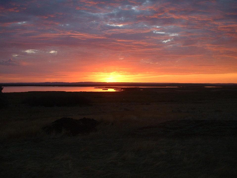 Sunrise on Bowdoin NWR