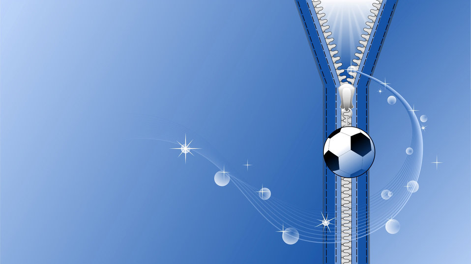 Background with a soccer ball