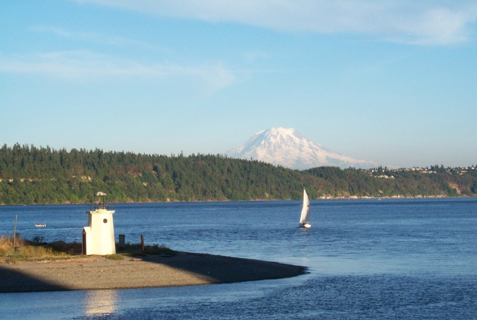 A view of Mt. Rainier from Gig Harbor - looking east.