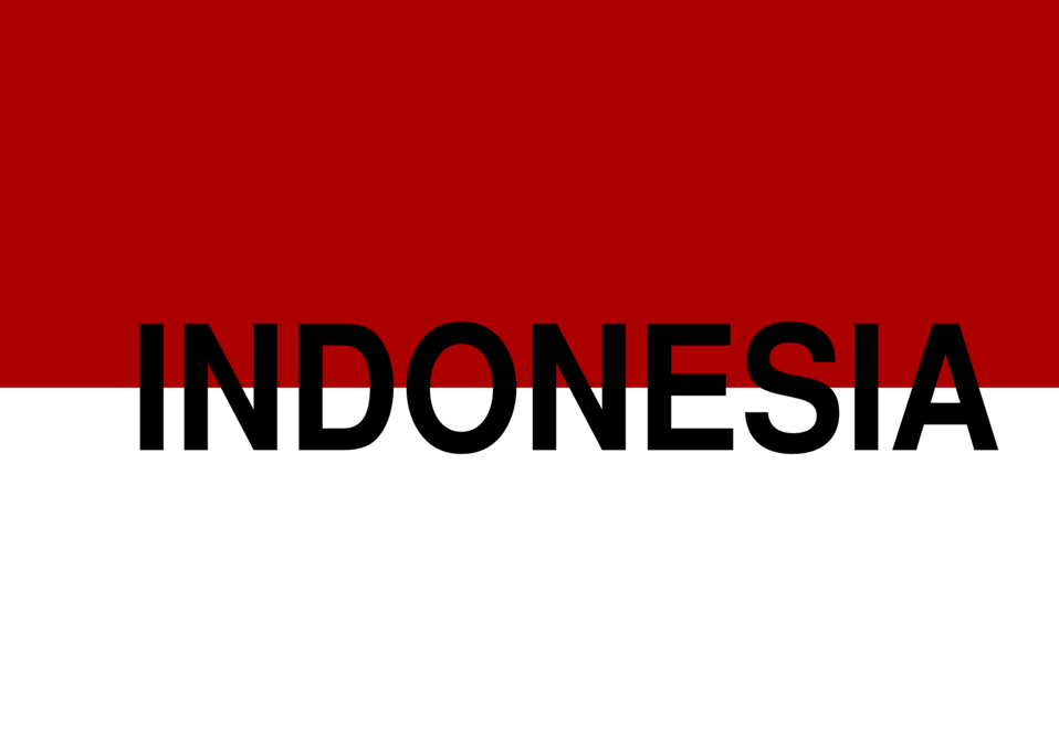 Indonesian flag text