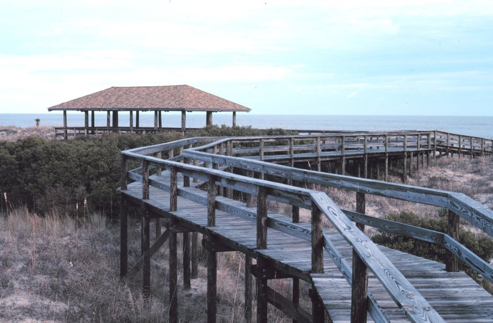 The Pavilion at Nannygoat Beach.
