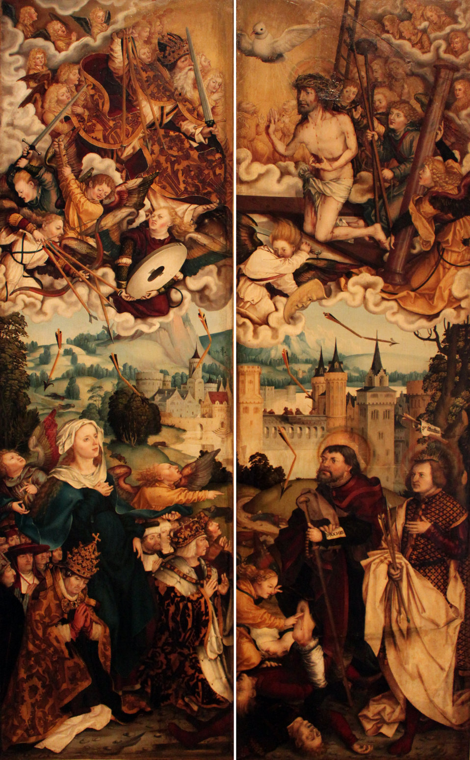 1513 Schaffner Flügel Pestaltar Augustinerkloster zu den Wengen in Ulm anagoria.JPG