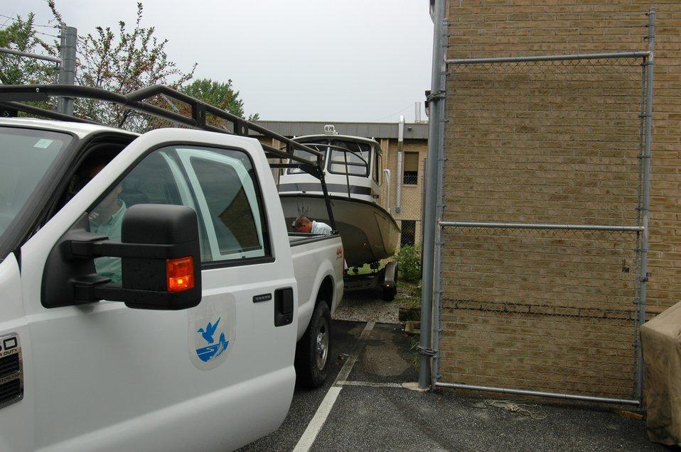 Hurricane preparedness at the Chesapeake Bay Field Office.