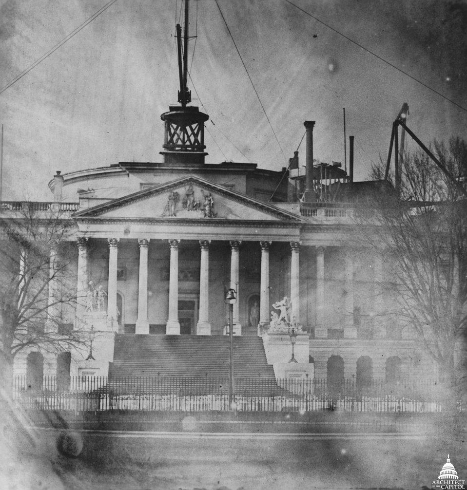 Capitol After Bulfinch Dome Removed 1856