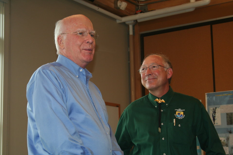 Senator Leahy and Secretary Salazar
