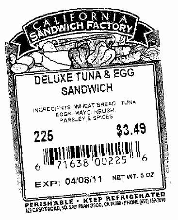 RECALLED - Sandwiches