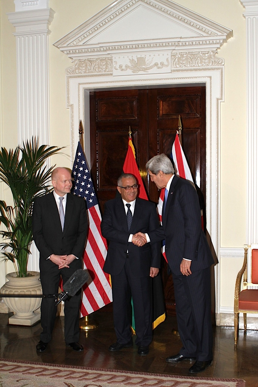 Secretary Kerry, Foreign Secretary Hague Hold News Conference With Libyan Prime Minister Ziedan