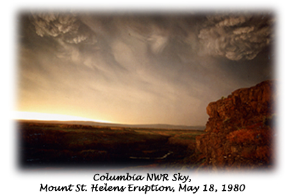 Sky after Mount St. Helens eruption, May 18, 1980 - Columbia NWR