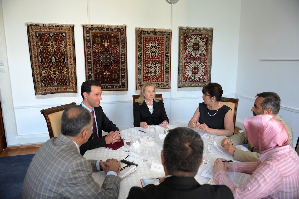 Secretary Clinton Meets With Civil Society Representatives