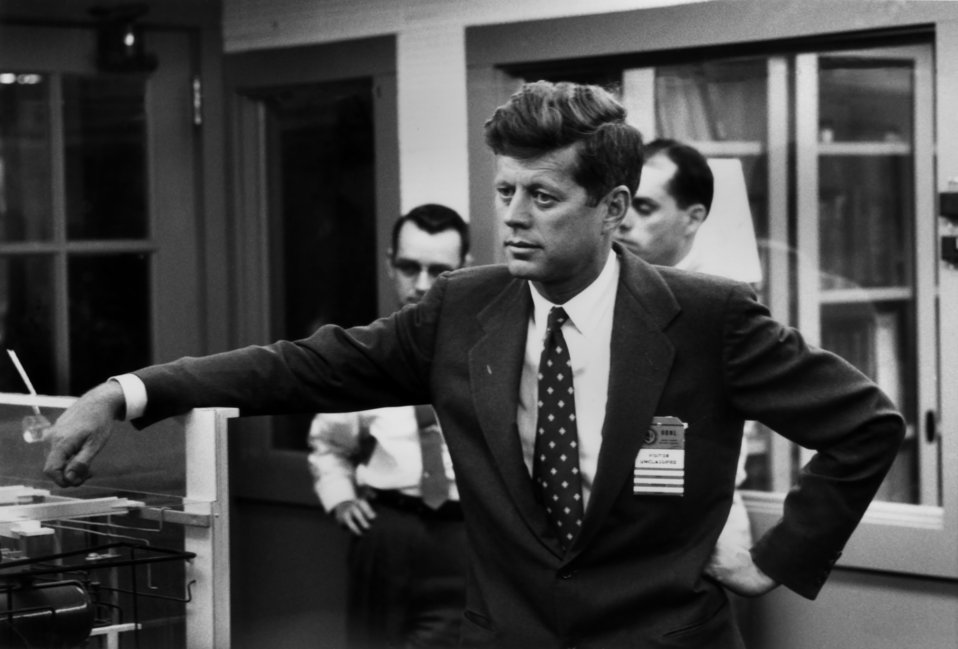 Sen. John F. Kennedy visting Oak Ridge