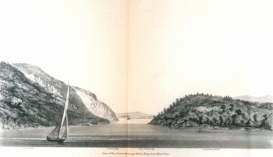 View of the Crow's Nest and Storm King from West Point. On the Hudson River.  In : Atlantic Local Coast Pilot Sub-Division 13 South Coast of Long Island New York Bay and Hudson River 1880.  P. 604.  Library Call Number VK981.A3 1879 Sub-13 2nd ed. 1880.