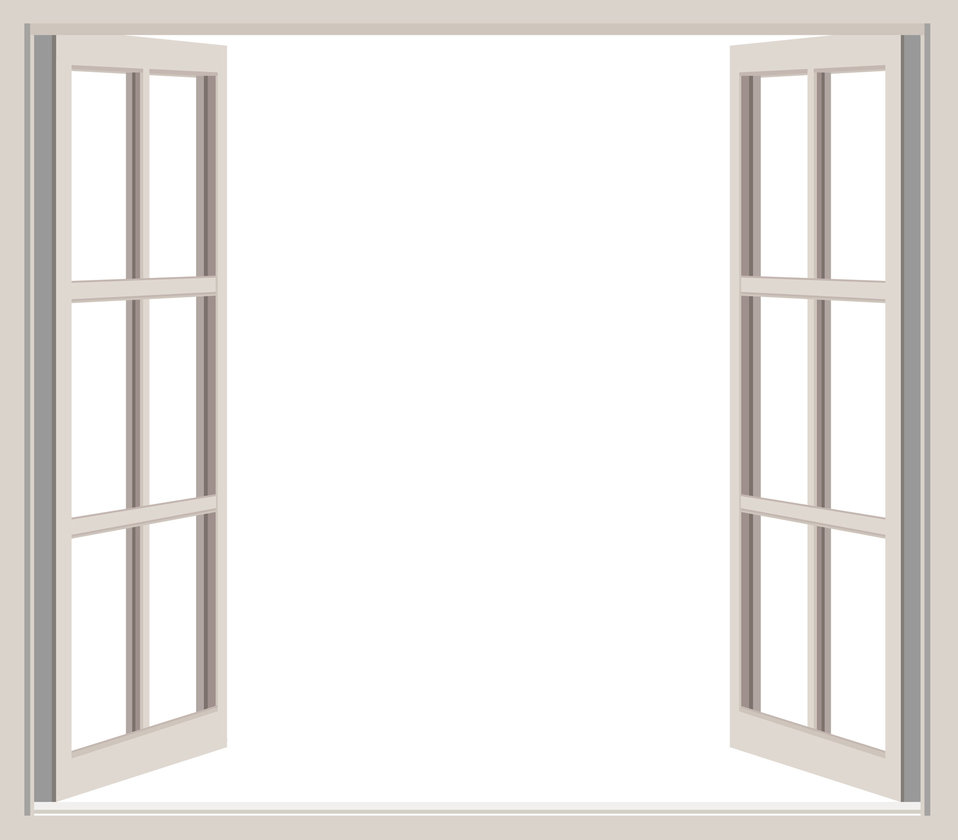 Open window frame clipart