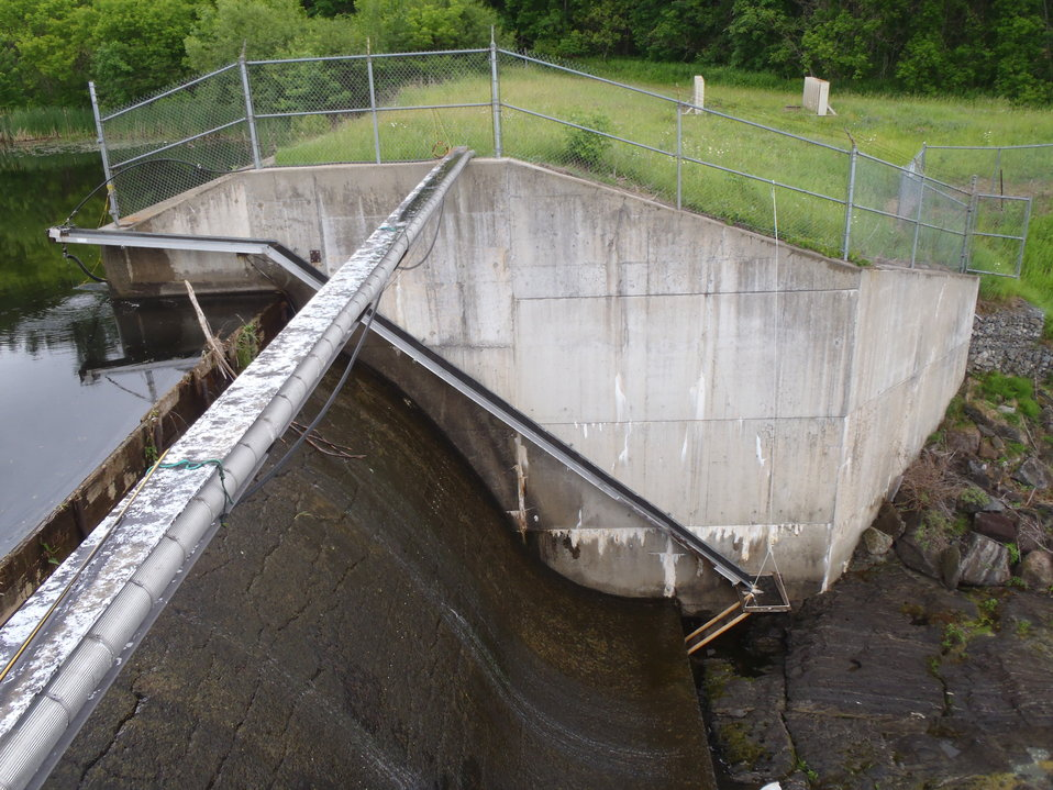 Eel pass at a dam in ME