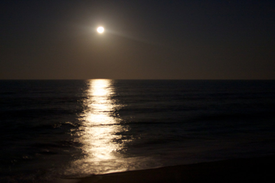 moonlight on the ocean