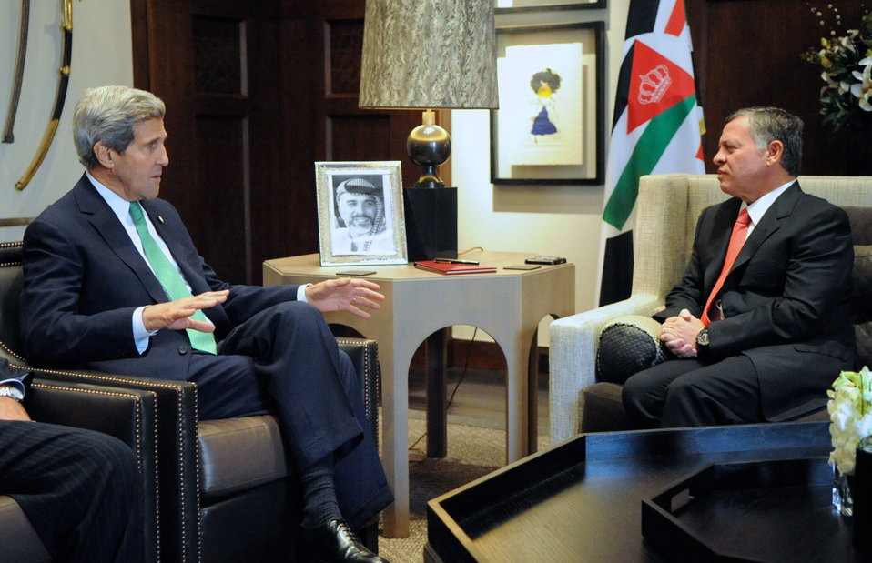 Secretary Kerry Speaks With Jordanian King Abdullah II in Amman