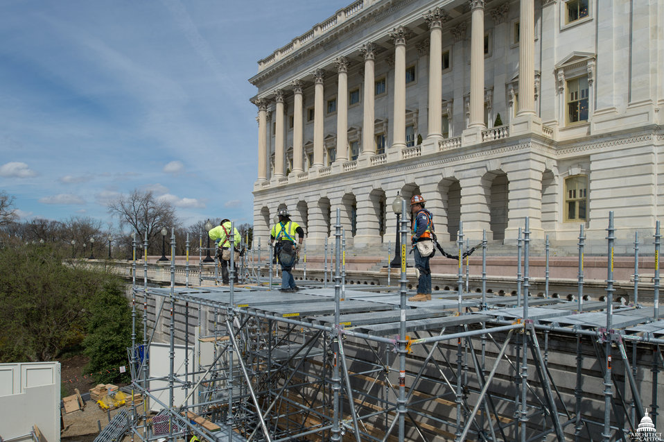Capitol Dome Restoration - Lower Tower Scaffolding