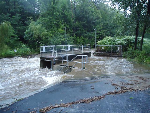 Flooding at Eisenhower National Fish Hatchery